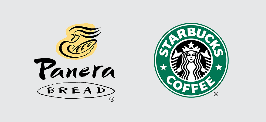 Panera and Starbucks icons
